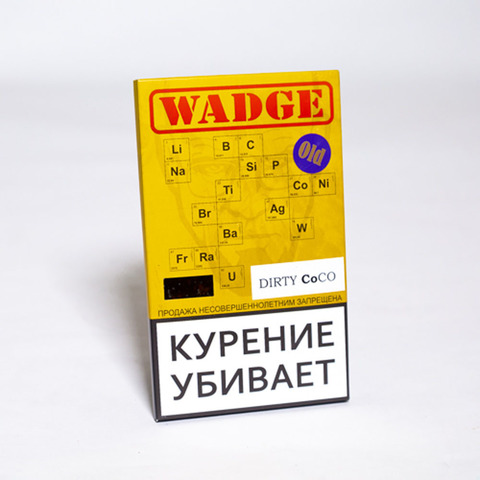 Табак WADGE OLD 100gr DIRTY COCO