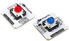 Кнопка со светодиодом (Troyka-модуль) (Красный)