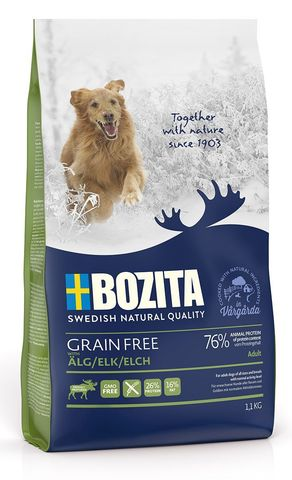 Bozita Grain Free Elk 26/16 Сухой корм для взрослых собак с нормальным уровнем активности с мясом лося (беззерновой)