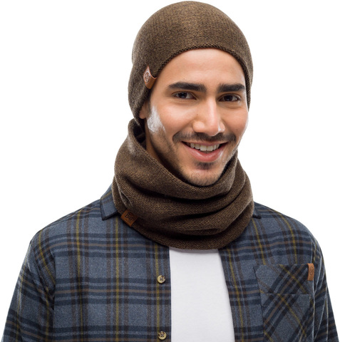 Комплект шапка шарф вязаный Buff Colt Bark фото 1