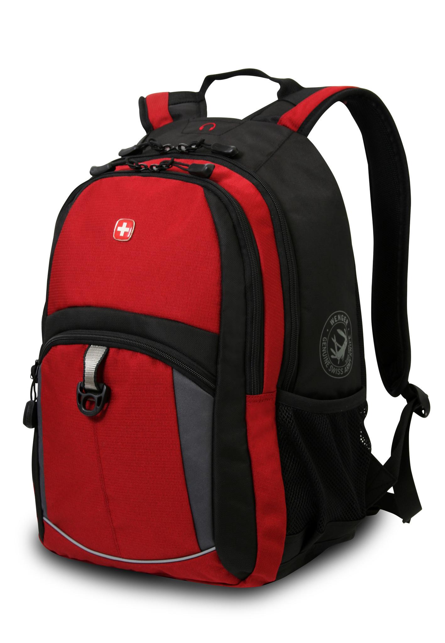 Рюкзак WENGER, цвет красный/чёрный, 22 л., 45х33х15 см., 2 отделения (3191201408)