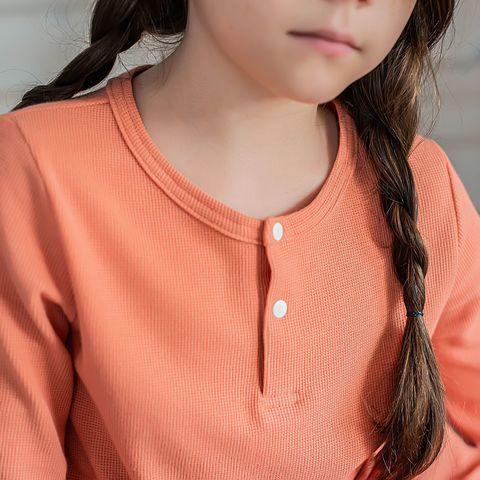 Ribbed pyjamas for teens - Coral