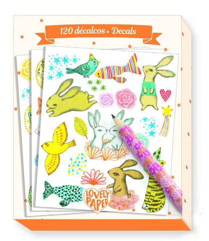 Набор переводных картинок Элоди, 120 шт + карандаш