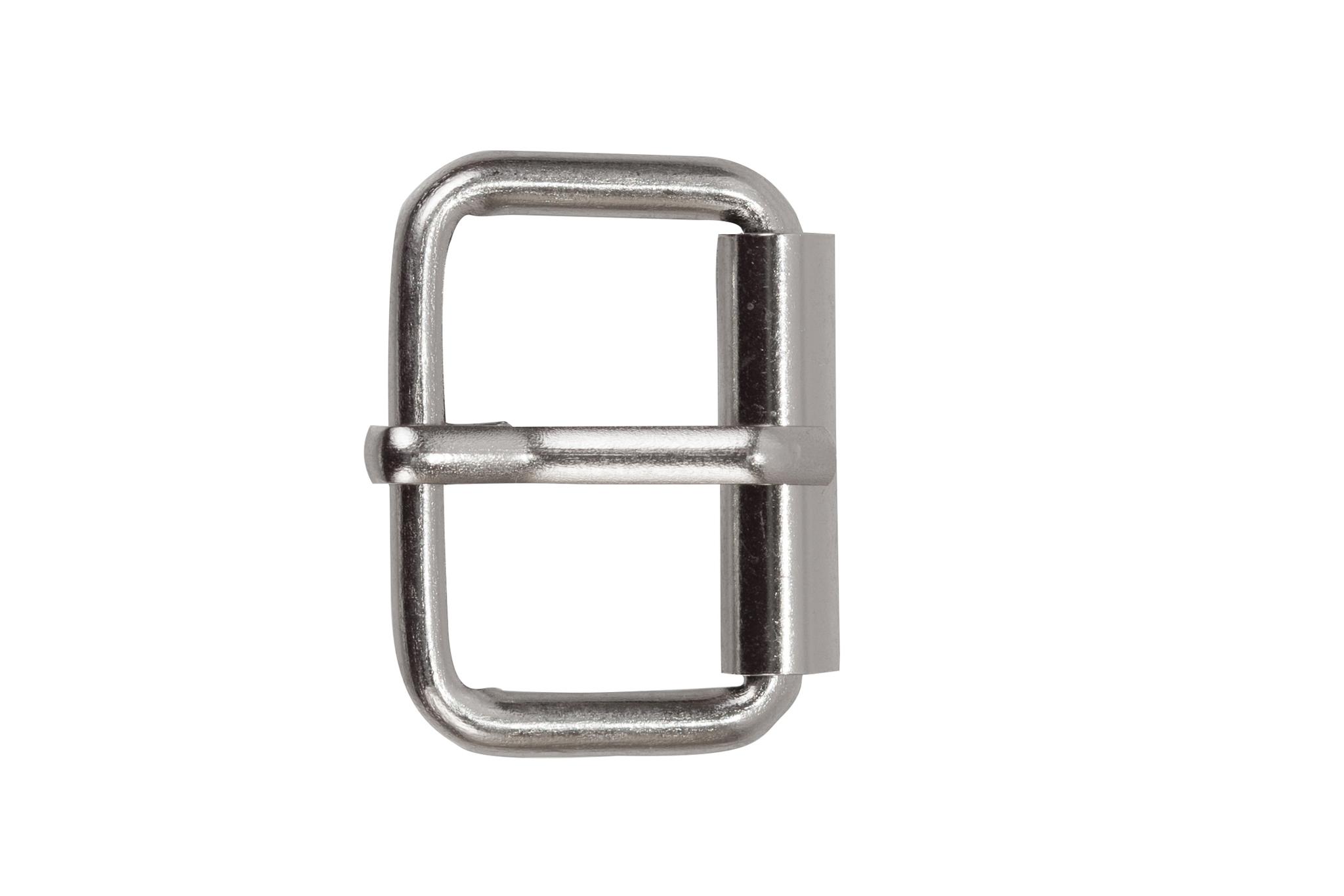 Пряжка роликовая + шлевка 25 мм, никель