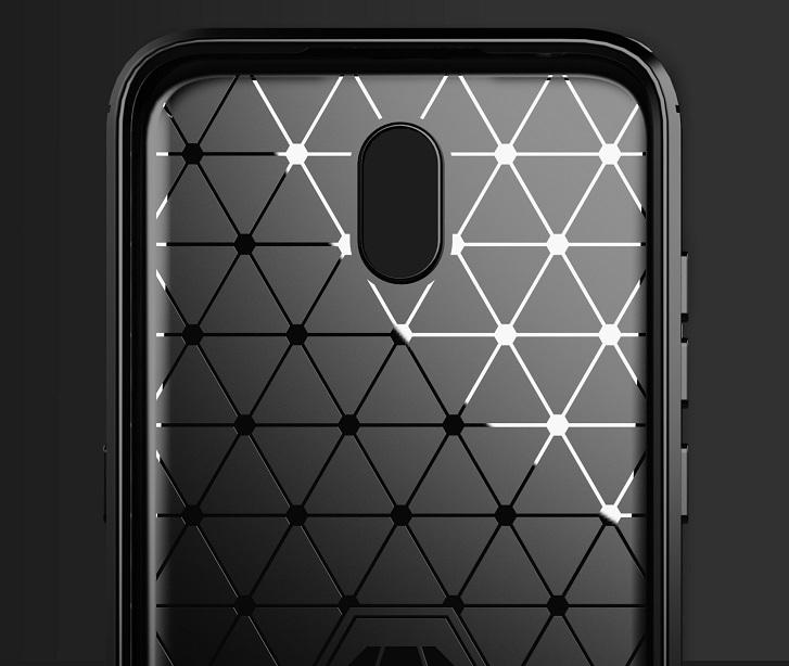 Защитный чехол стиль под карбон на Nokia 1.3, серия Carbon от Caseport