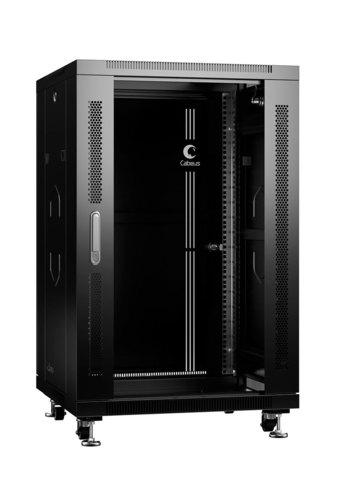 Шкаф напольный 19-дюймовый, 18U SH-05C-18U60/60-BK (8555c)
