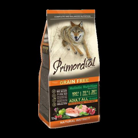 Primordial Сухой корм для собак с курицей и лососем (беззерновой)