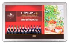 Карандаши цветные jumbo TRIOCOLOR 3164, 24 цвета