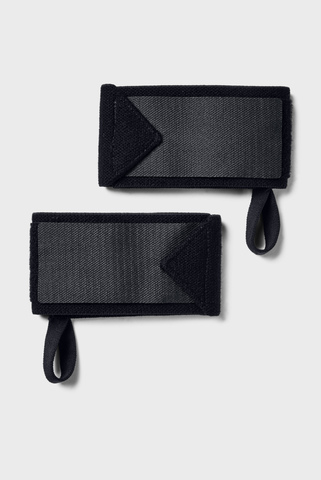Черные перчатки UA Project Rock Wrist Wraps-BLK Under Armour