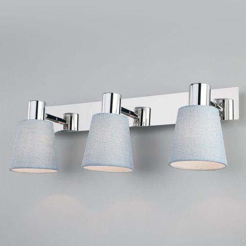 Настенный светильник с поворотными абажурами и выключателем 20080/3 хром/голубой