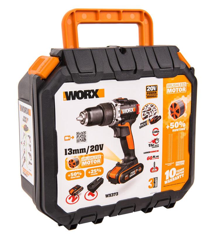 Дрель-шуруповерт ударная аккумуляторная WORX WX373 20В