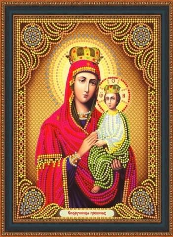Алмазная Мозаика 27х33 Икона Споручница Грешных (арт. LP121)