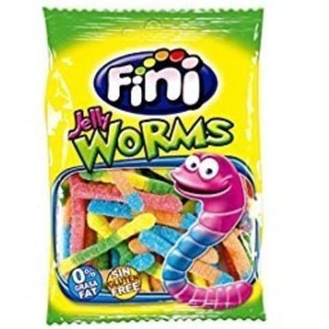 Жевательный мармелад Fini Jelly Worms сахарные 100 гр