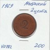 V0782 1969 Маврикий 2 цента