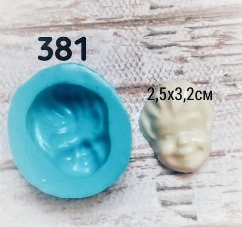 0381 Молд Голова детская (лицо) фарфор