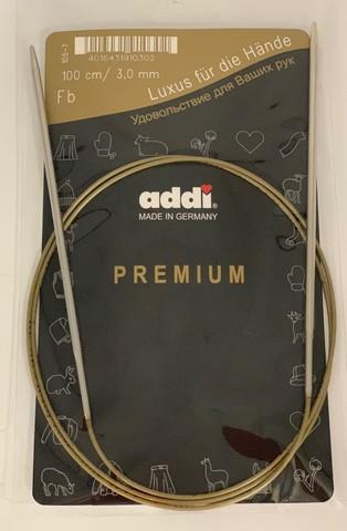 Спицы, круговые, супергладкие, №3, 100 см. ADDI Германия арт.105-7/3-100