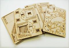 Конструктор 3D деревянный подвижный Lemmo ТЕРЕМОК