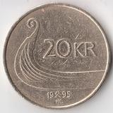 K6041, 1995, Норвегия, 20 крон  27,5 мм., 9,9 гр.