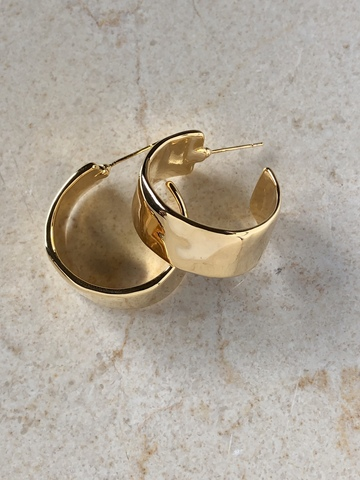 Серьги-колечки Киана, позолота
