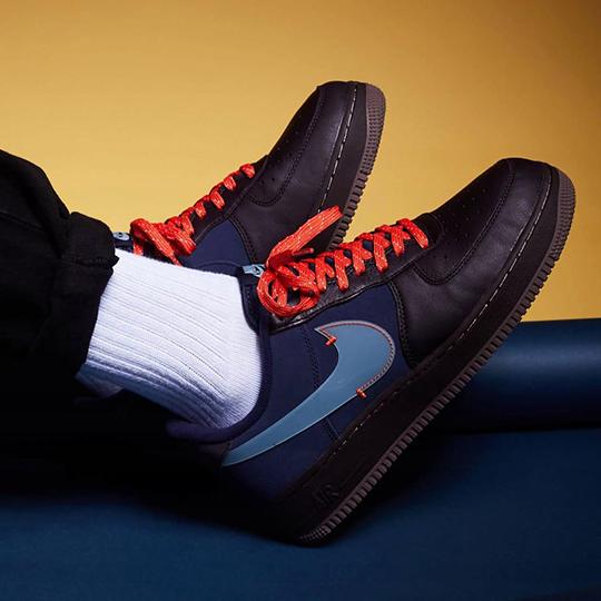 Nike Air Force 1 PRM Black/Dark Blue/Grey