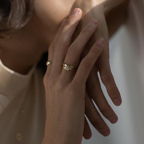 Кольцо INKLE (белое золото)