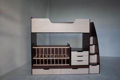 Детская Двухъярусная кроватка-трансформер, 16мм