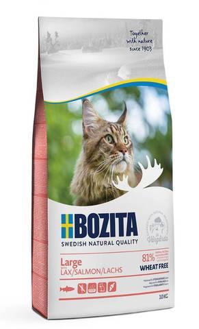 Bozita Large Wheat Free Salmon Сухой корм для взрослых кошек крупных пород с лососем (Без пшеницы)