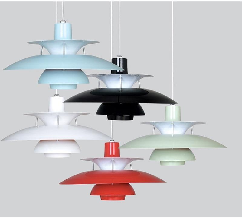 Подвесной светильник PH 5 by Louis Poulse (голубой)