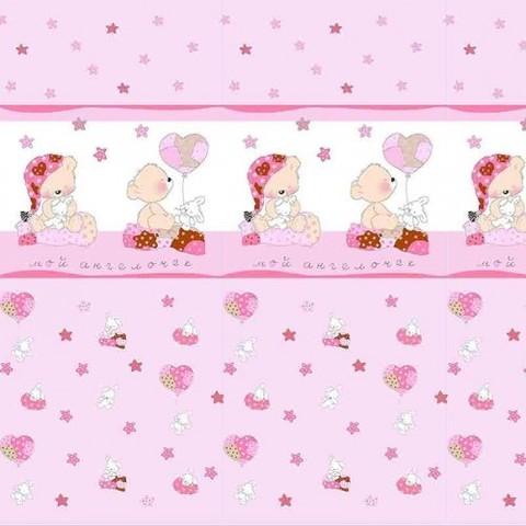 Поплин 150 см 1636/4 Мой ангелочек цвет розовый