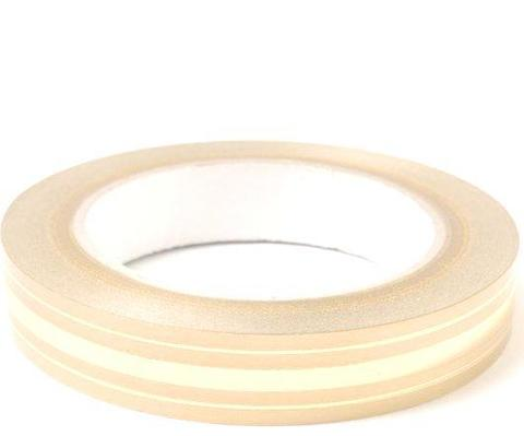 Лента золотая полоса BL (размер: 2 см х 50 ярдов) Цвет: кремовый