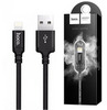 Кабель USB - Lightning 1м Hoco X14 - Черный