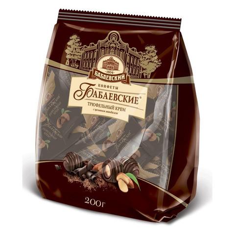 Конфеты шоколадные Бабаевские Трюфельный крем с цельным миндалем 200 г
