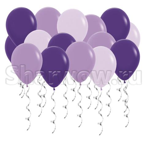 Воздушные шары под потолок Оттенки сиреневого