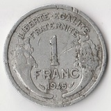 K14124 1945 Франция 1 франк