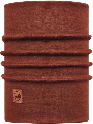 Теплый шерстяной шарф-труба Buff Wool heavyweight Solid Sienna фото 1