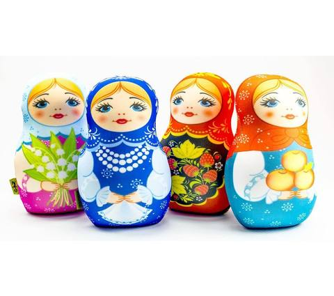 Мягкая игрушка-подушка Gekoko «Матрешка зимняя» 5