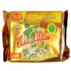 Хлебцы хрустящие ржаные с витаминами и железом  MaxiVita 120 гр