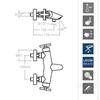 Смеситель термостатический для ванны с душевым комплектом и изливом RS-CROSS 6239MO - фото №3