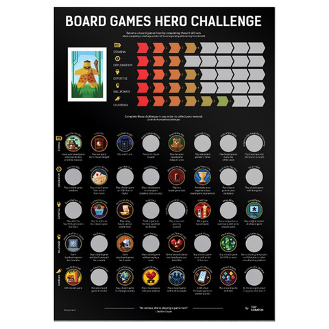 Скретч-постер Boardgames Hero Challenge