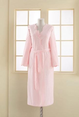 MELIS - МЕЛИС розовый махровый  женский халат Soft Cotton (Турция)