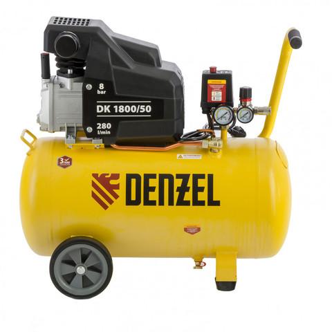 Компрессор воздушный DK1800/50, Х-PRO 1.8 кВт, 280л/мин, 50 л Denzel