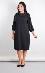 Рима. Елегантна сукня великих розмірів. Чорний.