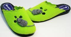 Домашние комнатные тапочки женские Inblu NC- 1B Mouse Light Green