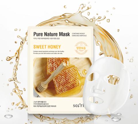 Anskin Маска для лица тканевая с медом Secriss Pure Nature Mask Pack Sweet honey, 1 шт