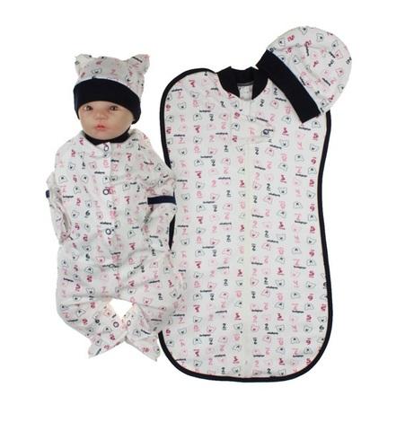 Набор одежды для новорожденного мальчика белый с синим