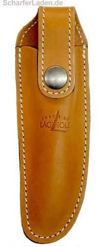 Чехол кожаный на пояс для складного ножа с лезвием 11 см. натурального цвета., Forge de Laguiole, дизайн AUBRAC A 2 F