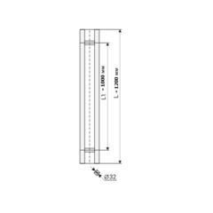 Комплект ручек для двери FS-H1200 SSS (AISI 304) NOTEDO