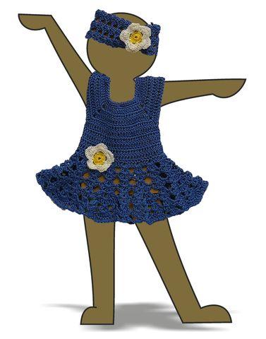 Вязаный сарафан и полоска - Демонстрационный образец. Одежда для кукол, пупсов и мягких игрушек.