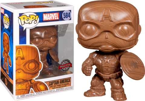 Captain America Wood Deco Special Edition Funko Pop! || Деревянный Капитан Америка