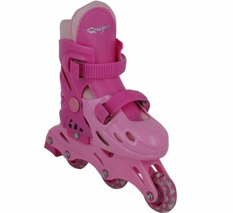 Коньки роликовые, раздвижные BW-501PN, цвет розовый, р. 35-38 M (BW-501PN)